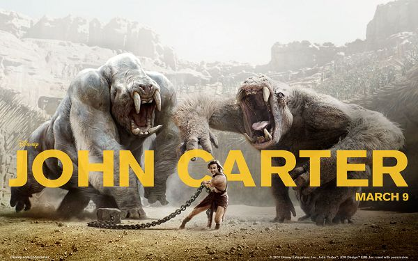 click to free download the wallpaper--John Carter 2012 Available in 1920x1200 Pixel, an Incredible Man Pulling Two Big Monsters, Can You Believe This? - TV & Movies Wallpaper