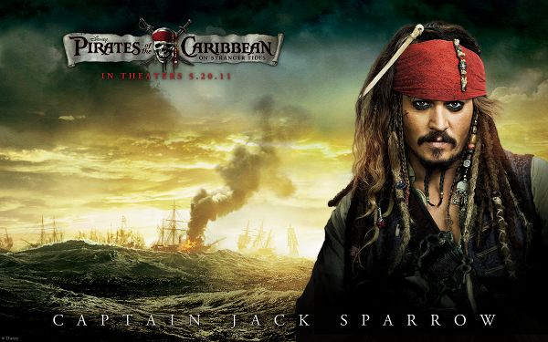 Johnny Depp Post in Pirates Of The Caribbean 4 in 1920x1200 Pixel, the Handsome Pirate Never to be Surpassed - TV & Movies Post