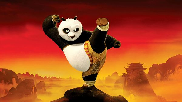 Kung Fu Panda 2 Post in 1920x1080 Pixel, the Panda in Busy Practice, You Bet He Will Win, Has to be Like This - TV & Movies Post