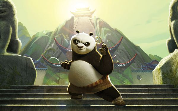 click to free download the wallpaper--Kung Fu Panda 2 Post in 2560x1600 Pixel, Guy in Defiant Eyesight, Be Careful If You Are in Competition with Him - TV & Movies Post