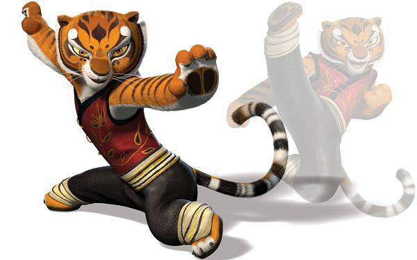 click to free download the wallpaper--Kung Fu Panda Tigress in 2560x1600 Pixel, a Smart and Swift Tiger, Must be Hard to Beat, be Careful to Fight with Him - TV & Movies Post