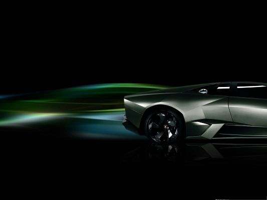 Lamborghini Reventon Car Wallpaper, Decent and Smooth Car on Black Background