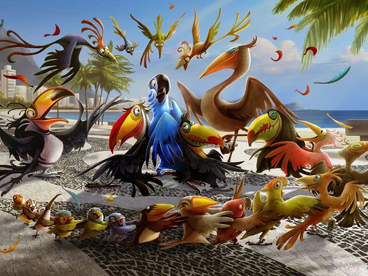 Let Me Take You To Rio in 1600x1200 Pixel, All Animals Happy and Laughing, Shall Bring the Users Great Mood - TV & Movies Wallpaper