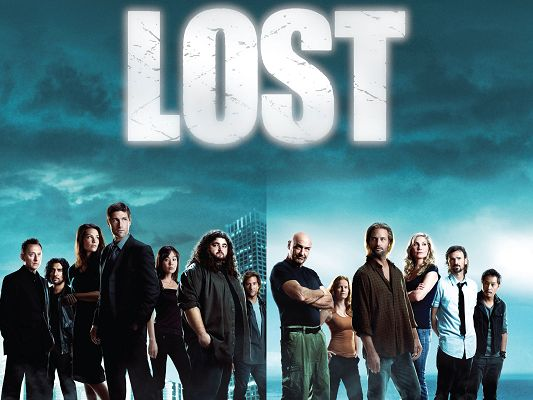 click to free download the wallpaper--Lost TV Series 2010 Post in 1920x1440 Pixel, All Guys in Stand, Together They Shall Overcome Every Difficulty and Hardship - TV & Movies Post