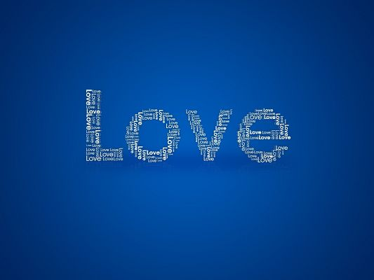 Lovely Wallpaper, a Full Eye of Love, Apparently the Keyword, Blue Background