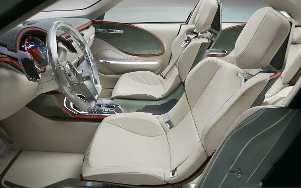 click to free download the wallpaper--Luxury Car Interior, Gray and Soft Cushions, Great Feel and Look
