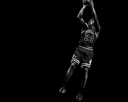 MJ in Chicago Bulls Jacket, Making a Jump Shot, 1280x1024 Pixel, a Dark and Cool Michael Jordan wallpaper - Basketball Super Stars Wallpaper