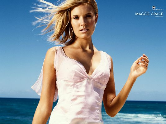 Maggie Grace Post in Lost Available in Pixel of 1600x1200, Hair is Flying and Dancing in the Wind, the Lady Shall Strike Quite an Impression - TV & Movies Post