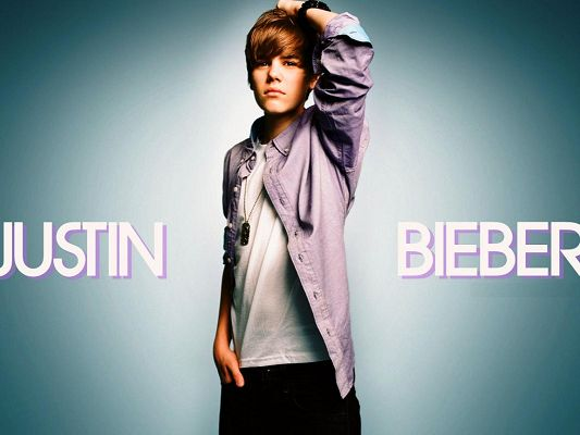 click to free download the wallpaper--Man Wallpaper, Justin Bieber, the Young and Handsome Guy, Names Alongside Him