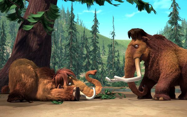 Manny & Ellie Post in Ice Age in 1920x1200 Pixel, the Lovers Always Seen Together, Impossible to be Left Alone, Envy Them a Lot, Ah? - TV & Movies Post