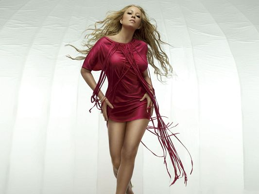 click to free download the wallpaper--Mariah Carey Poster, Big Steps, She Shall Walk Proudly Ahead