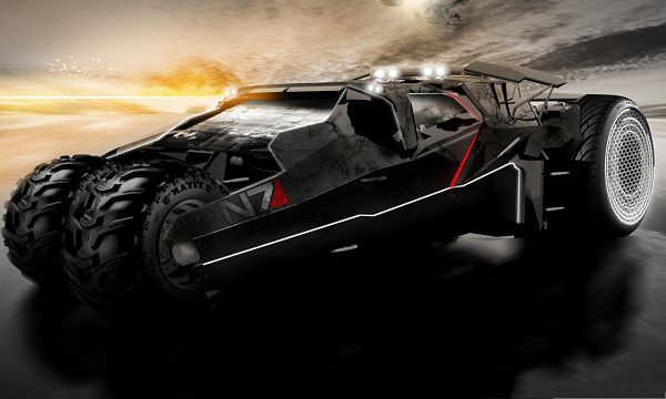 click to free download the wallpaper--Mobile Car Wallpaper, Super Car in Mass Effect, the Golden Horizon