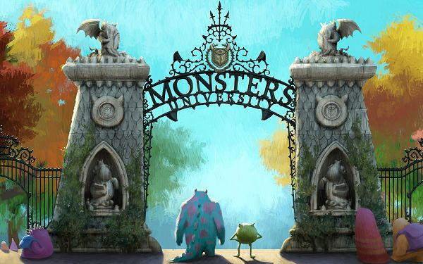 click to free download the wallpaper--Monsters University in 2560x1600 Pixel, The Two Guys Are Smart Enough to Choose the Schppl, They Can be Masters Here - TV & Movies Wallpaper