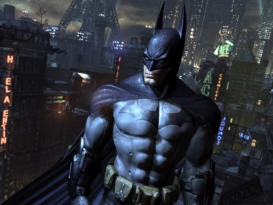 click to free download the wallpaper--Movie Wallpaper Free - Batman Arkham City, Defend and Protect the City