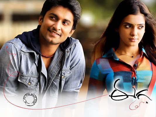 click to free download the wallpaper--Nani Samantha in Eega in 1600x1200 Pixel, Two Look-Gooding Guys, They Must be Lovers, What a Pair! - TV & Movies Wallpaper