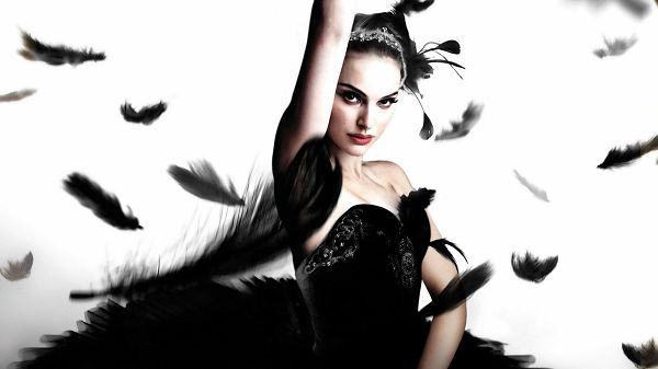 click to free download the wallpaper--Natalie Portman in Black Swan HD Post in 1920x1080 Pixel, the Girl Surrounded by Black Furs, She is Dancing, Impressive and Beautiful - TV & Movies Post