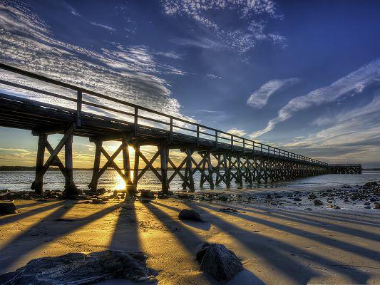 Nature Bridge Landscape, Tall and Majestic Bridge Over the Twisting ...