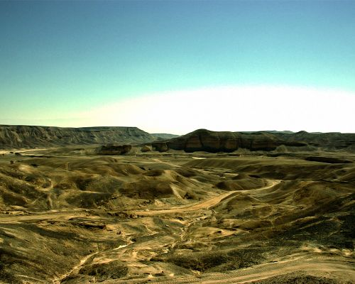 click to free download the wallpaper--Nature Landscape Image, Stretched Desert, Seemingly Endless, Magnificent Scene