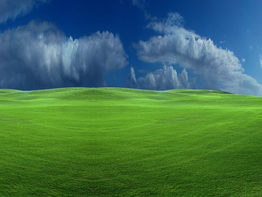 Nature Landscape Images, Silence Before Storm, Peaceful Green Grass, Incredible Scene