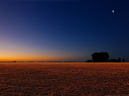 click to free download the wallpaper--Nature Peaceful Landscape, Night Scene in the Country, Impressive and Beautiful