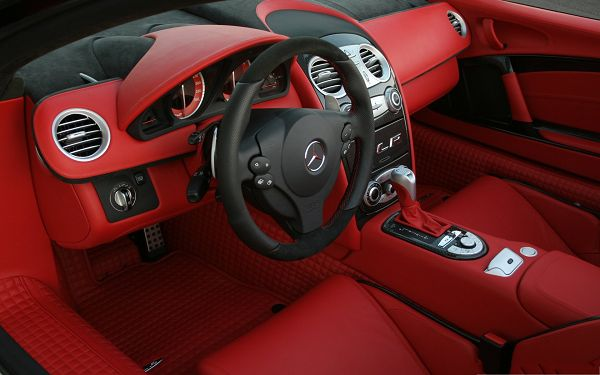 click to free download the wallpaper--Nice Car as Wallpaper, Mercedes Benz Car Interior, Cheerful and Nice Look