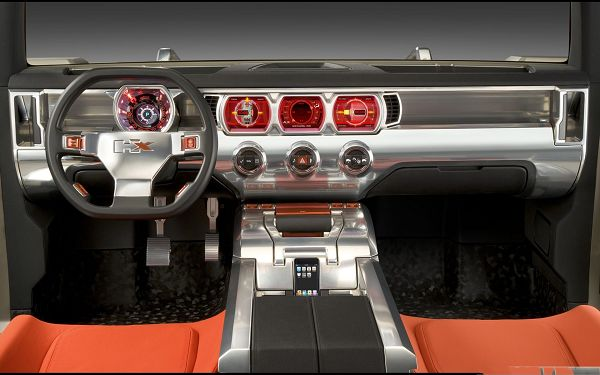 click to free download the wallpaper--Nice Cars Picture, Orange Car Interior, Great to Drive on