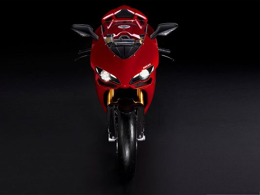 click to free download the wallpaper--Nice Cars Wallpaper, Ducati 1198S Superbike on Dark Background
