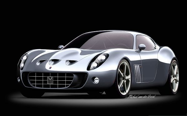 click to free download the wallpaper--Nice Cars as Wallpaper, Ferrari Sport Car on Black Background, Deeply Impressive