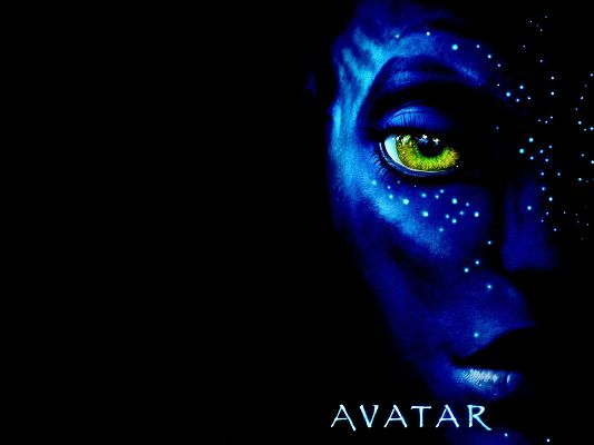 click to free download the wallpaper--Official Avatar Movie Poster in 1920x1440 Pixel, Eyes All Open in Yellow, the Man Shall Gain Overwhelming Attention - TV & Movies Post