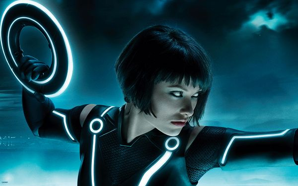 click to free download the wallpaper--Olivia Wilde Tron Legacy Multi Monitor Post in 1920x1200 Pixel, Girl in Sharp and Cold Eyesight, She is Looking Good in This - TV & Movies Post