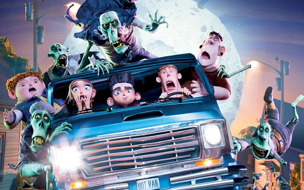 click to free download the wallpaper--ParaNorman Comedy Horror in 1920x1200 Pixel, All Scary Guys in a Car, Followed by Green Monsters, Mind Your Drive and Passengers - TV & Movies Wallpaper