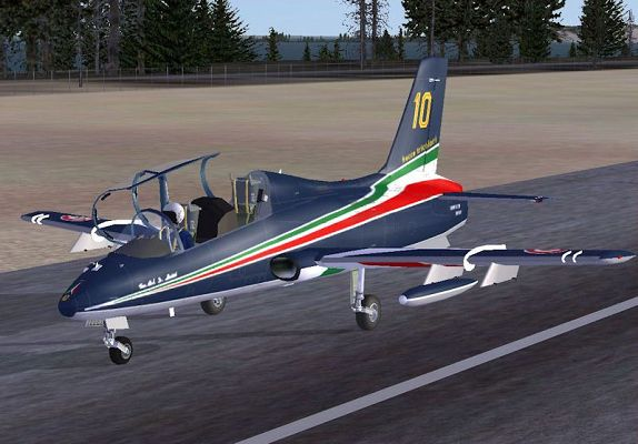 click to free download the wallpaper--Paris Air Shows Screenshot, Aermacchi MB-339A PAN on Runway
