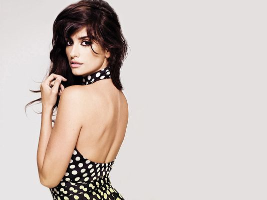 click to free download the wallpaper--Penelope Cruz HD Post in Pixel of 2560x1920, an Incredibly Beautiful Lady Whose Back is Revealed, She is Attractive and Impressive - TV & Movies Post