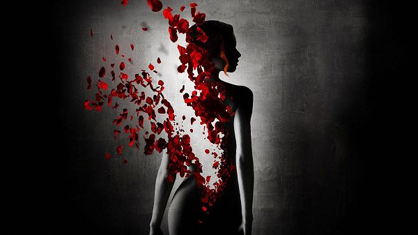 Perfume The Story of a Murderer in 1920x1080 Pixel, Red Flowers Flying Among the Naked Woman, She is Such a Fit - TV & Movies Wallpaper