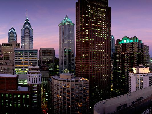 Philadelphia Pennsylvania Post in Pixel of 1600x1200, All Buildings in Various Sizes and Height, Amazing Scenery - HD Natural Scenery Wallpaper