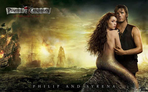 click to free download the wallpaper--Philip and Syrena in Pirates 4 Post in 1920x1200 Pixel, Forbidden Love Between Man and Mermaid, Hard to Understand - TV & Movies Post