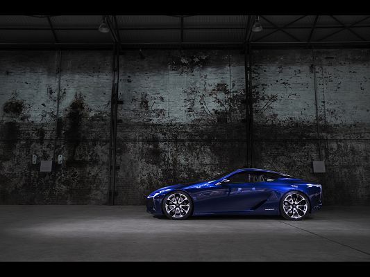 click to free download the wallpaper--Photos of Cars - A Blue Lexus Car Next to the Wall, is Super and Impressive