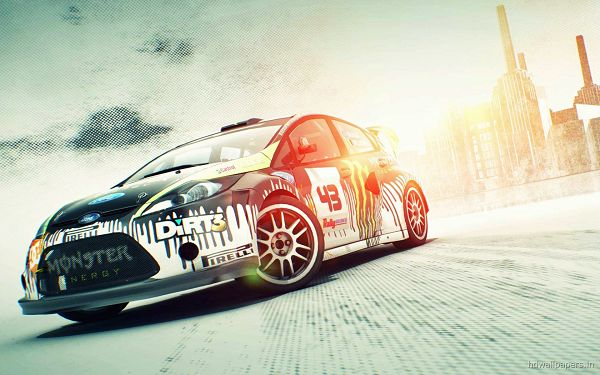 Pics of Cars - DiRT 3 Post in Pixel of 1920x1200, the Car Turning a Corner, It is Indeed Monster-Like