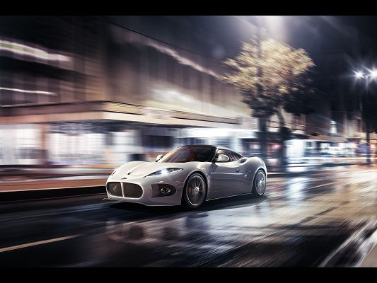 Pics of Super Cars, Spyker-B6 Venator Concept, the Car is Purely White Like Pearls, Unbelieveable!