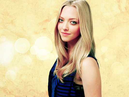 click to free download the wallpaper--Picture of Actress, Amanda Seyfried Poster, Blonde Beauty