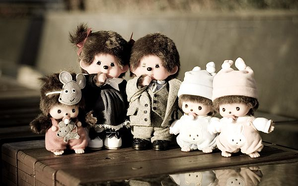 Picture of Monchhichi Family, Great Closeness and Bondness are Revealed, This is Family Connection - HD Monchhichi Wallpaper
