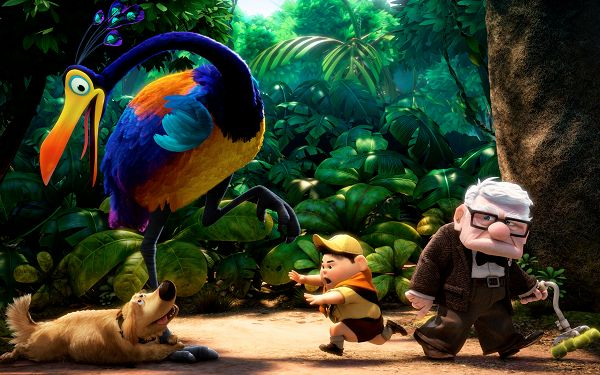 click to free download the wallpaper--Pixar's UP HD Post in 2560x1600 Pixel, All Guys Are Close to Each Other, They Will Never Suffer from Departure - TV & Movies Post