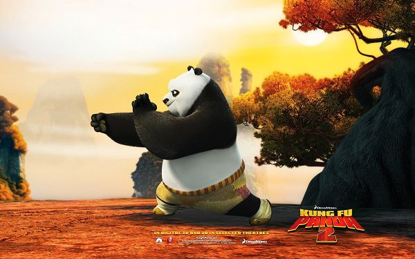 click to free download the wallpaper--Po Post in Kung Fu Panda 2 in 1920x1200 Pixel, Guy Busy in Practicing Kung Fu, He is Determined to be the Winner - TV & Movies Post