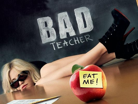 click to free download the wallpaper--Popular Movies Poster, Bad Yet Hot Teacher, Highly Tempting