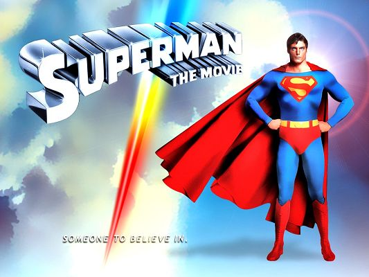 click to free download the wallpaper--Poster of TV & Movies, the Strong and Hard to Beat Super Man, Believe in Him!