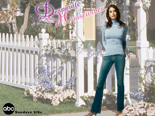 click to free download the wallpaper--Poster of TV Series, Susan Mayer from Desperate Housewives, Wisteria Lane