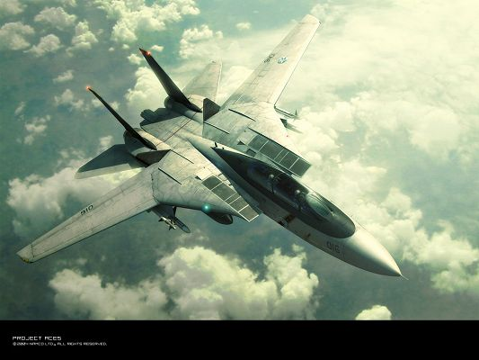 click to free download the wallpaper--Posts of Ace Combat, an Aeroplane in the Sky, Like a Big Bird, is Impressive and Shall Fit