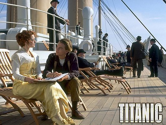Posts of Movies, Titanic Scene, Jack and Rose Having a Nice Conversation