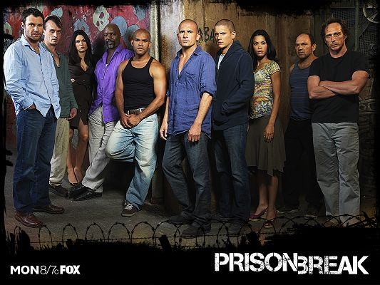 click to free download the wallpaper--Prison Break TV Series Post Available in 1600x1200 Pixel, All Guys Desperate to Go Out of the Prison, Will They Will Make It - TV & Movies Post