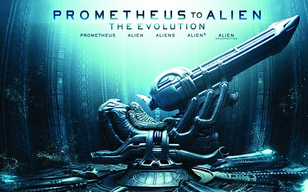 click to free download the wallpaper--Prometheus to Alien The Evolution in 1920x1200 Pixel, the Decent-Looking Machine is Ready to Go, it Shall be a Fit - TV & Movies Wallpaper